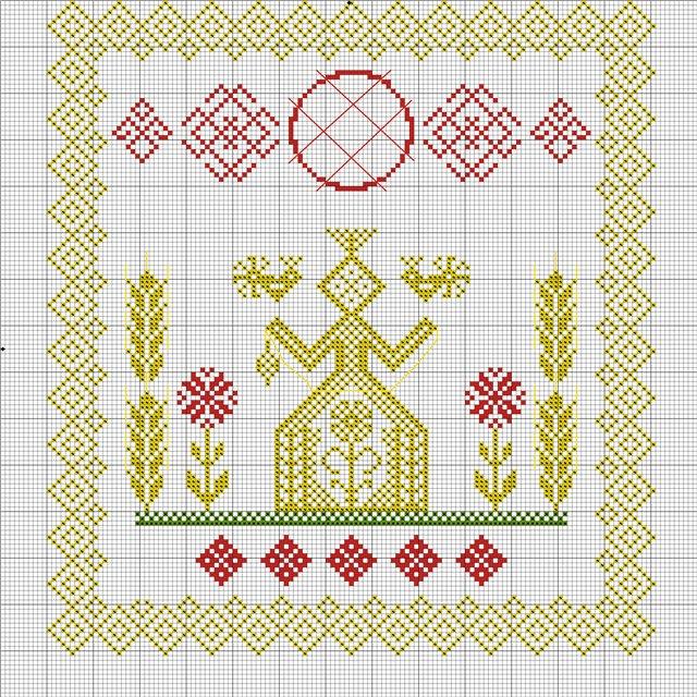 Вышивка славянских оберегов макошь