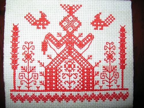 Славянская вышивка одежды схемы