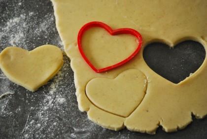 тесто для печенья сердечек