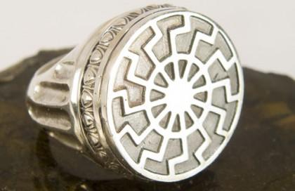 кольцо чёрное солнце