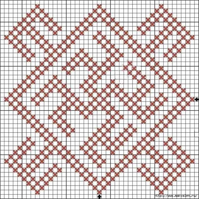 Оберег Одолень трава: схема вышивки