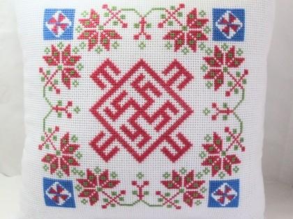цветок папоротника - вышивка