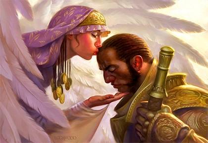 целует воина