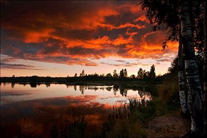 закат в России