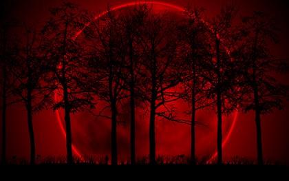 большая красная луна