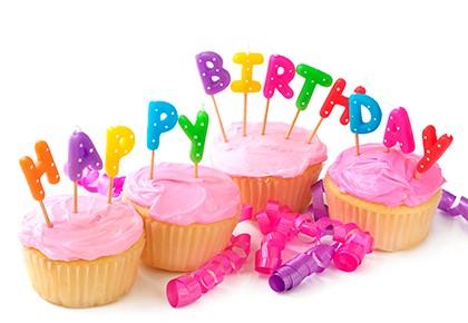 кексы с днём рождения