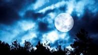 полная луна за облаками