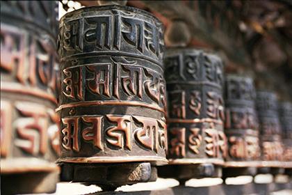 тибетский молитвенный барабан