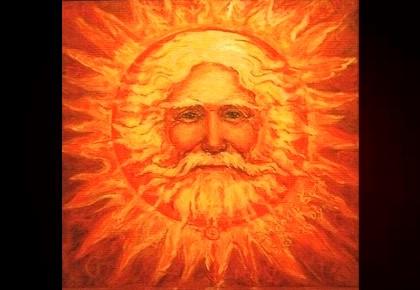 лицо солнца
