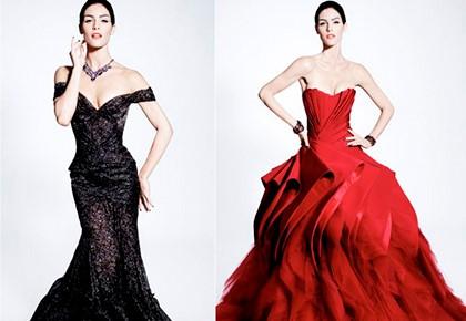 чёрное и красное платья