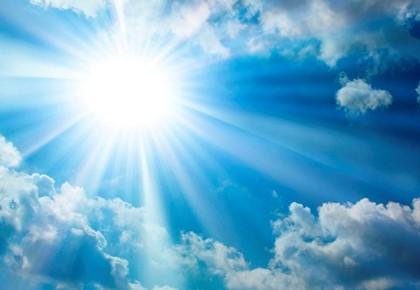 свет в небе