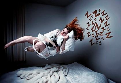 спит в воздухе